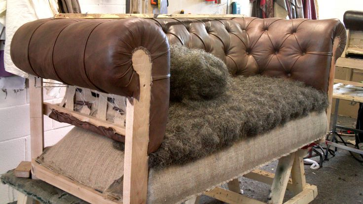 Chesterfield Sofa Frame, How To Reupholster A Chesterfield Sofa