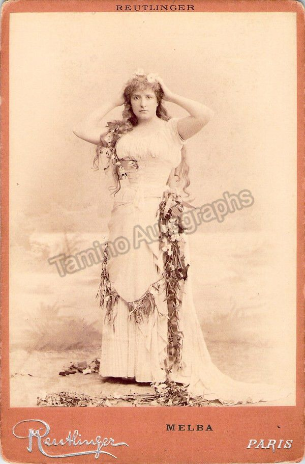 Melba, Nellie - Cabinet Photo as Ophelia in Hamlet