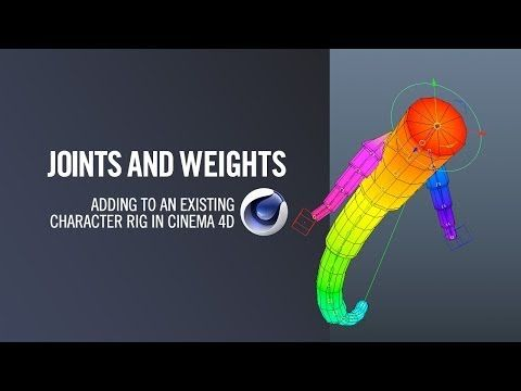 Joints and Weights in Cinema4D - YouTube