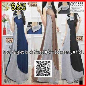 baju-maxi-long-dress-terbaru-lengan-buntung-s652