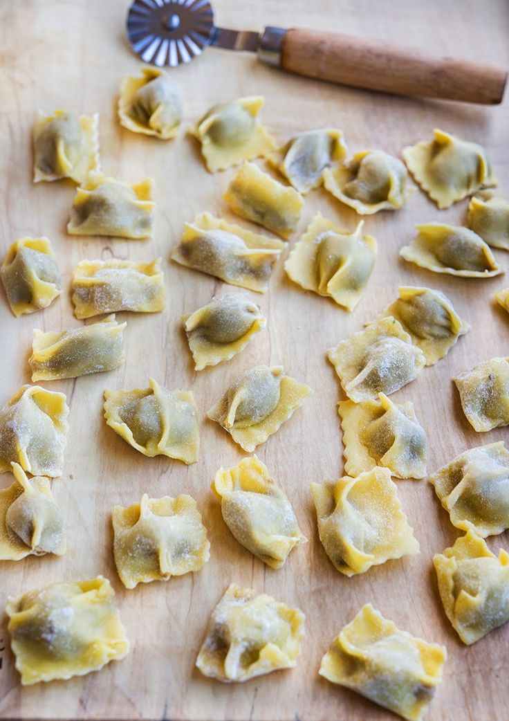 Homemade Agnolotti via Wild Greens and Sardines