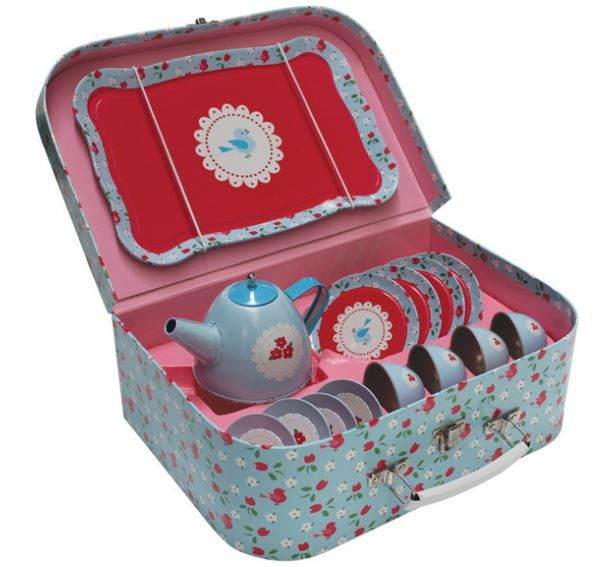 Vintage Tea Set - Bluebird
