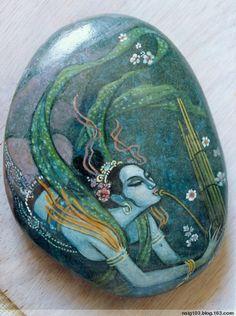 石头上的绘画 - painted rock / stone