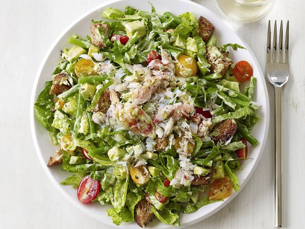 #FNMag's Crab and Avocado Salad #AvocadoTasty Recipe, Food Network, Avocado Salads, Weeknight Dinner, Green Beans, Healthy Dinner, Avocado Salad Recipe, Foodnetwork, Crabs