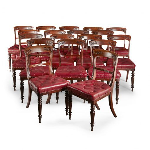 Rare Set Of 20 Scottish Dining Chairs