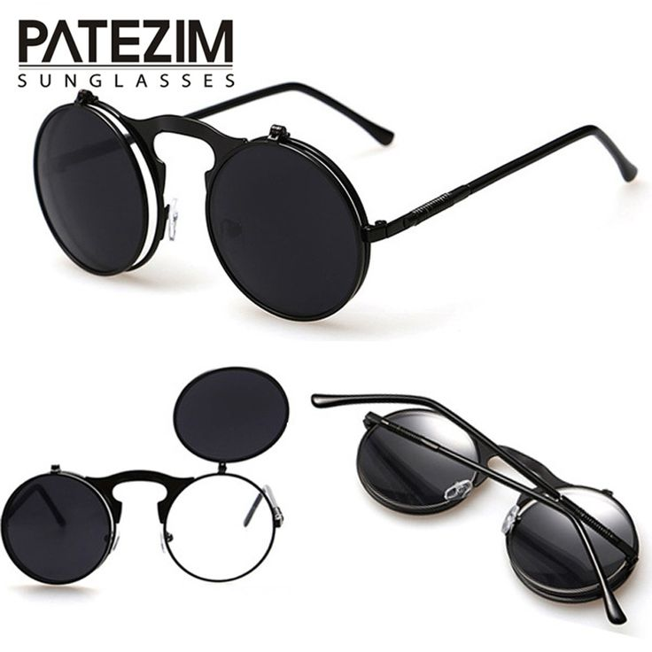 2016 Vintage Steampunk Sunglasses Round Designer Steam Punk Metal Glasses Women And Men Retro Circle Sun Glasses Oculos de sol