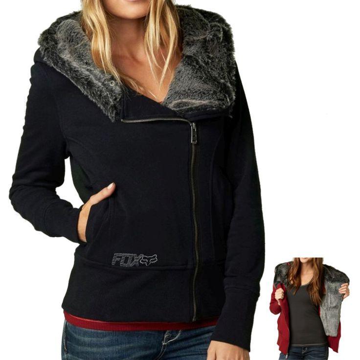 Fox Racing Ultimatum Sasquatch Women's Ladies Fur Zip Up Casual Sweatshirt Hoodie