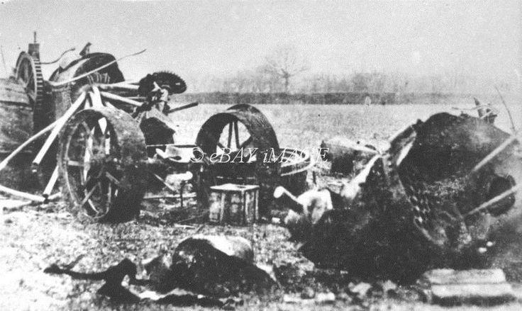 TR 77 PHOTO FOWLER PLOUGH ENGINE AFTER BURST BOILER 1918 in Collectables, Postcards, Transportation | eBay