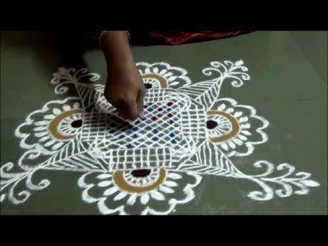 Makar sankrant rangoli Padi Kolam Margazhi Kolam Happy New Year 2016 Sim...