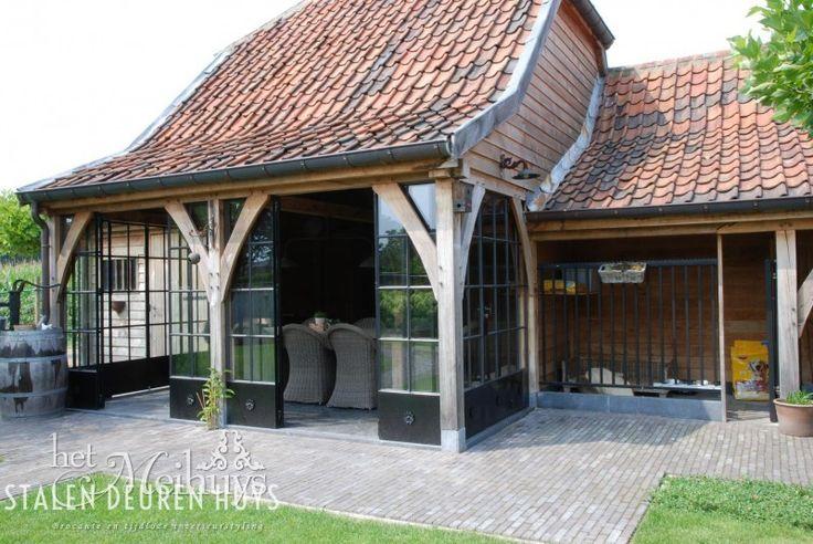 Stalen deuren en ramen in tuinhuis, Project Dessel