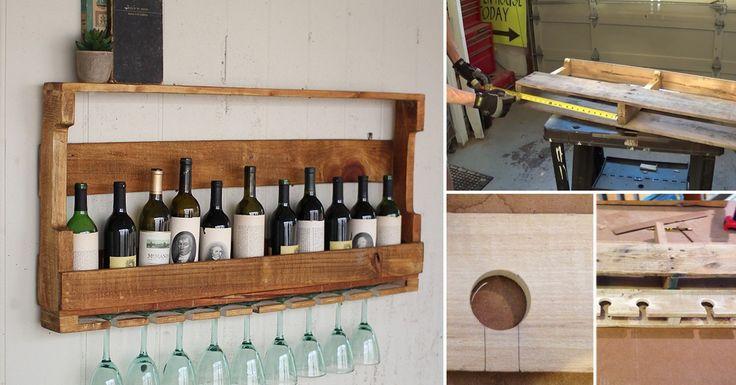C mo hacer un mueble para vinos con pallets pallets - Como hacer un mueble para tv ...