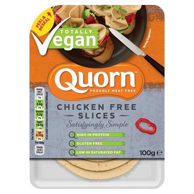Morrisons Quorn Vegan Chicken Free Slices 100g 100g Product Information Quorn Vegan Quorn Quorn Chicken