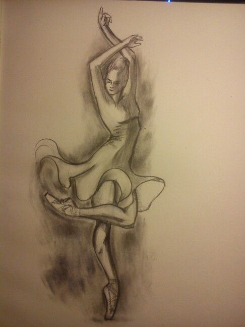 Sketch dance- charcoal and pencil