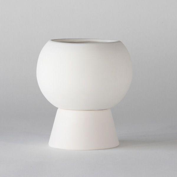 BC100 CERAMIC VASE+POT ↔14.0cm ↑20.0cm. White matte ceramic vase+pot. High quality handmade ceramics Designed+Made by Decovery | Essential Details.