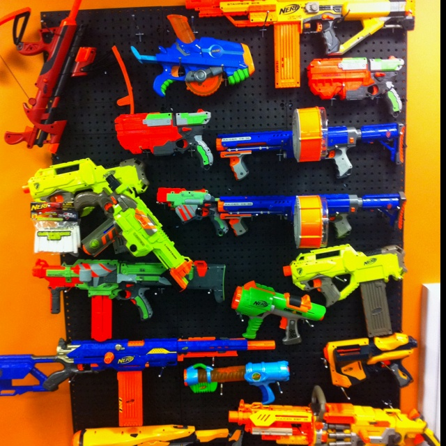 Nerf Gun Arsenal 17 Best images about N...