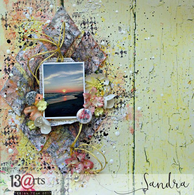 13arts: ''Summer memories'', layout/tutorial By Sandra Bernard