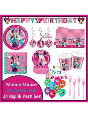 Minnie Mouse Full Parti Seti (24 Kişilik)