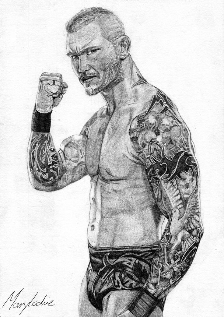 Wrestling Coloring Pages Randy Orton