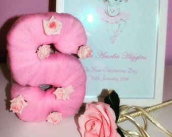 Tulle Wrapped Letter Decoration with Bow от LittleBowPeepLtd