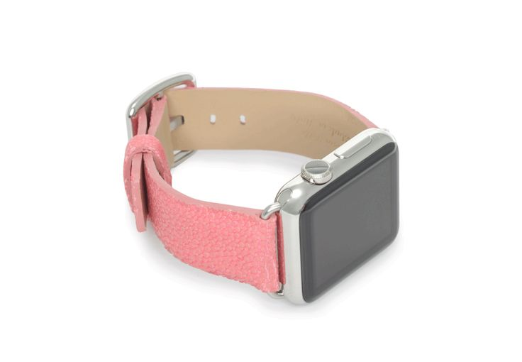 $ 159.00 Cashmire Rose - The rose galuchat leather strap designed by Meridio, is the perfect glamour addition to the Apple Watch of a woman of style. Just 38 mm