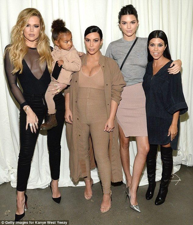 The gang's (almost) all here! Khloe Kardashian, North West, Kim Kardashian West, Kendall Jenner and Kourtney were all at the event held at the Skylight Modern in Chelsea