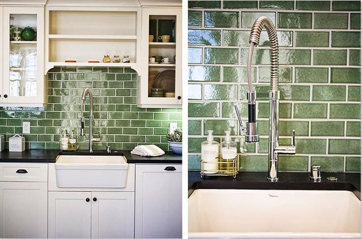 Green Tile Backsplash Since My Backsplash Hasn T Been Installed Yet I Ve Gathered Some
