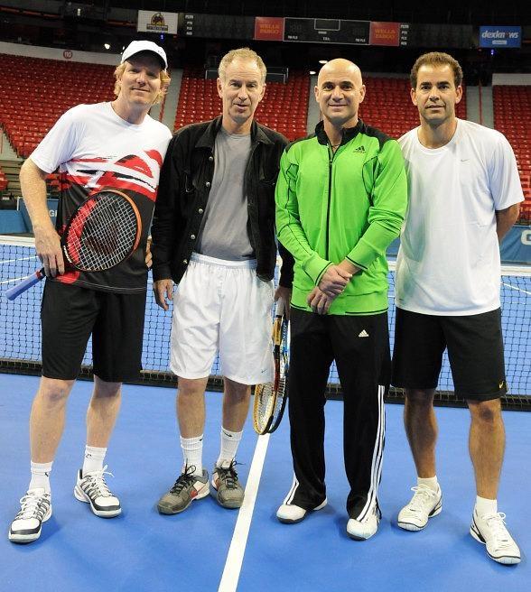 Jim Courier, John Mcenroe, Andre Agassi, Pete Sampras