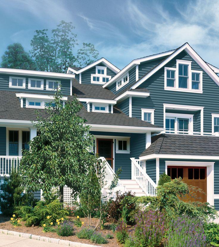 Vinyl Siding For Houses Designs: CertainTeed - Siding - Monogram - Pacific Blue