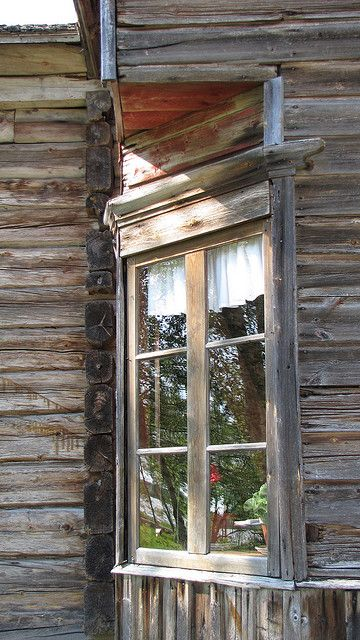 Old window. Love where it's placed on the house