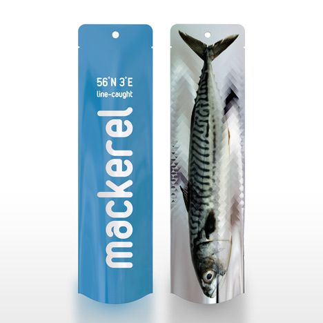 Love this design of this fish packaging by PostlerFerguson, though as a vegetarian i am a little troubled by treating animals like they are products...