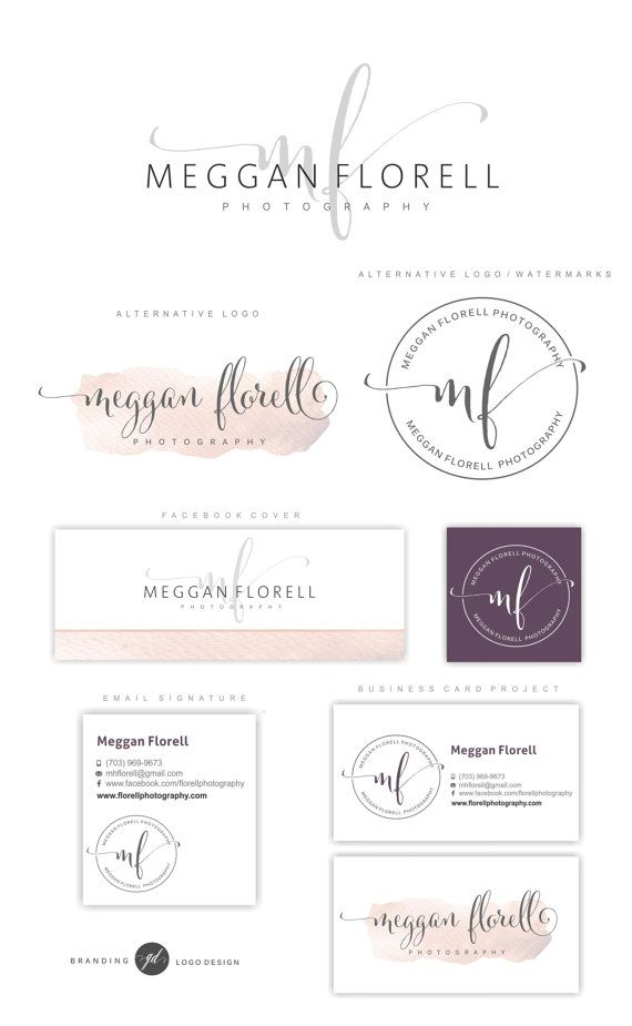 Photography logo package, Premade Initials logo, Branding Kit, Blog logo design, Watermark, Stamp, Custom business package, Logo package, 70