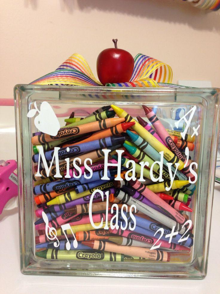 Personalized teacher glass block cricut ideas for Custom acrylic blocks