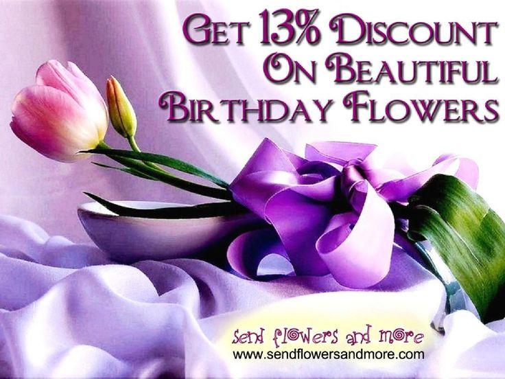 Get 13% #Discount On #Beautiful #Birthday #Flowers  For More: http://www.sendflowersandmore.com/send-birthday-flowers