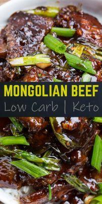 Mongolisches Rindfleisch Keto Friendly Low Carb Rezept