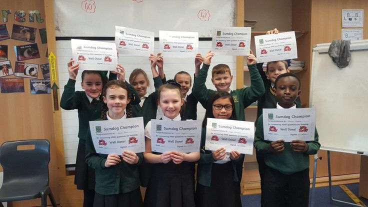 St. Constantine's PS @gostconstantine    P4a 'Sumdog Champions' proudly showing their certificates   Keep up the fantastic efforts!   #achievement #recognition