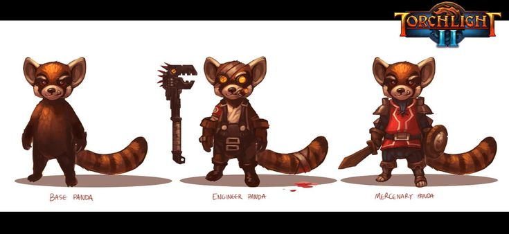 Torchlight 2 - Red Panda Race NPC's by Scuro