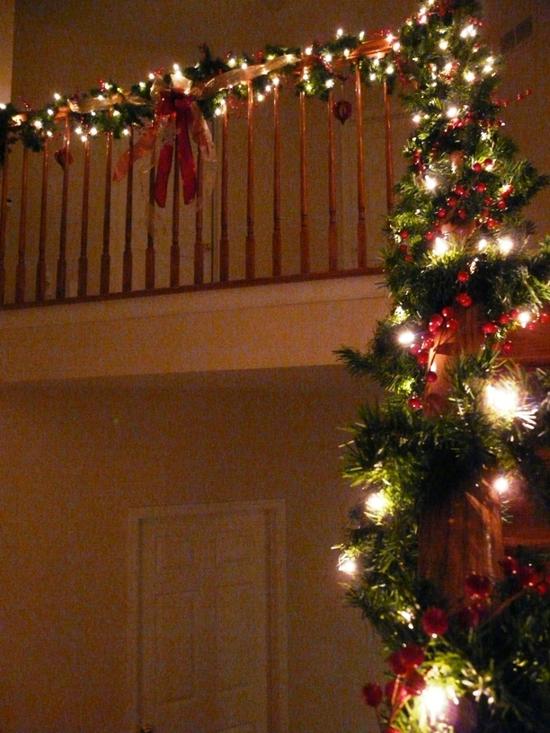 For the banister.Holiday Ideas, Holiday Decorating
