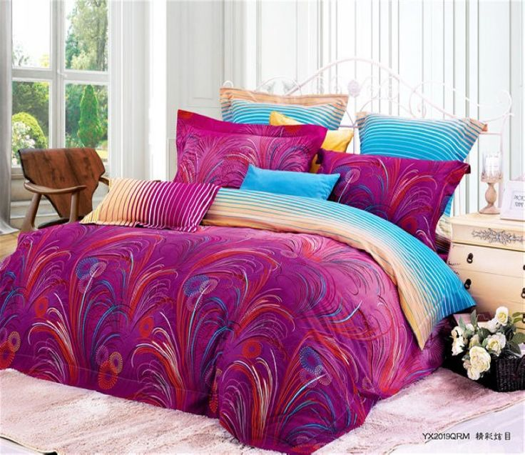 purple comforter sets queen