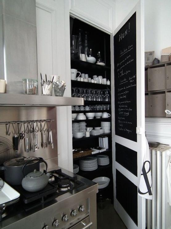 Alacena empotrada cocinas con barra pinterest - Pizarra para cocina ...