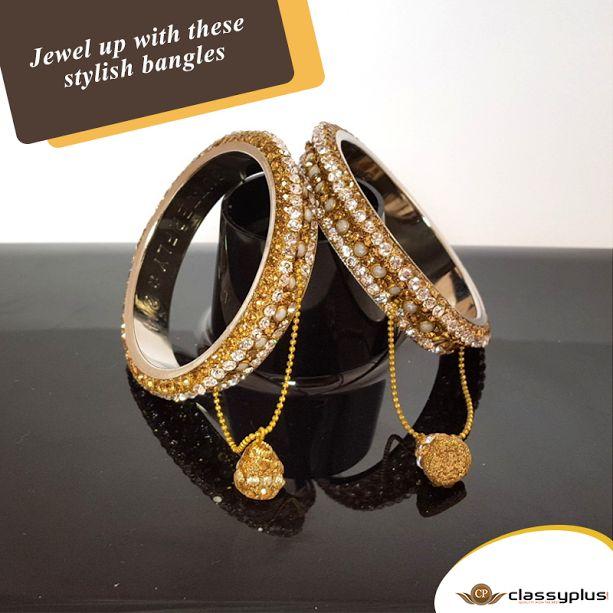 Jewel up with these stylish bangles. #Jewelry #Fashion #Woman #Classyplus