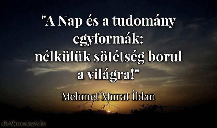 Mehmet Murat Ildan gondolata a tudományról. A kép forrása: Magyar Ateista Mémbázis
