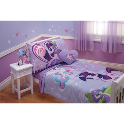 Tabi said she only likes purple sheets...smh My Little Pony Bed Set - Toddler