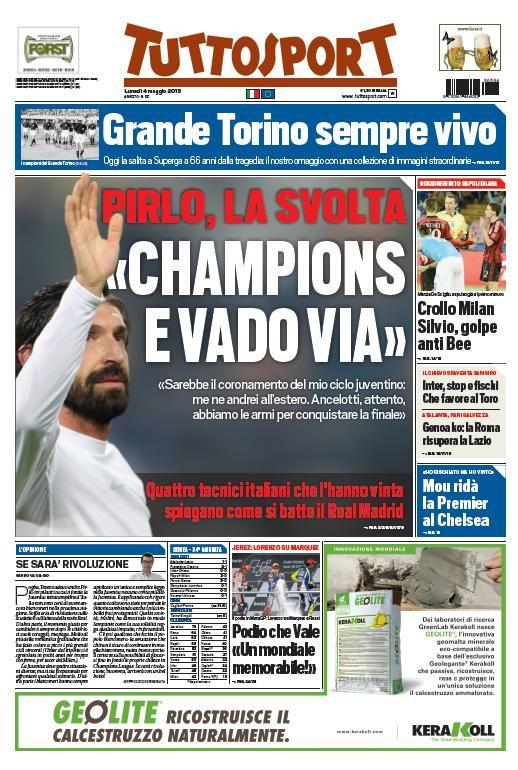 "Juventus-Real Madrid, Pirlo annuncio shock: ""Champions e vado via"""