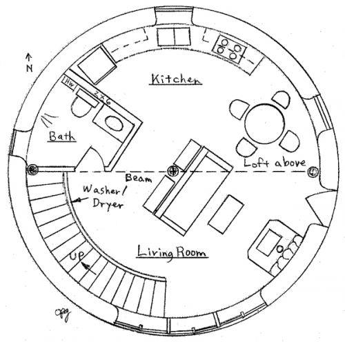 roundhouse floor plans for that silo tourette i plan on attaching to the log cabin
