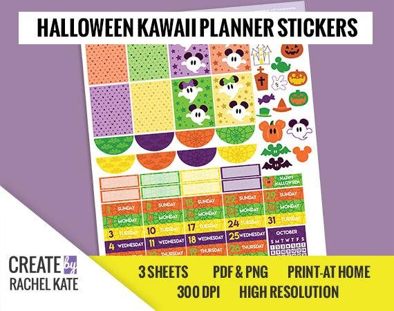 Create by rachel kate digital planner stickers this digital sticker pack will assist you in creating a one of a kind planner spread you can pri