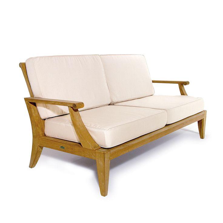 Laguna Teak Outdoor Love Seat Sofa - Westminster Teak Outdoor Furniture