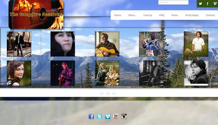 """Website design """"The Campfire Sessions"""""""