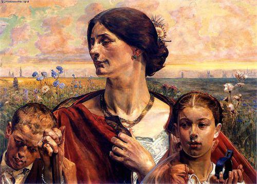 Jacek Malczewski, Motherland, 1903