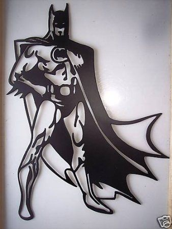 Amazon.com: Batman Superhero Standing Decorative Metal Wall Art: Furniture & Decor. I have to find this for Dylan.