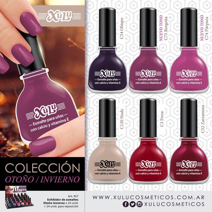 ¡Conocé los esmaltes para esta temporada otoño-invierno! Dos nuevos tonos: Borgoña y Púrpura.